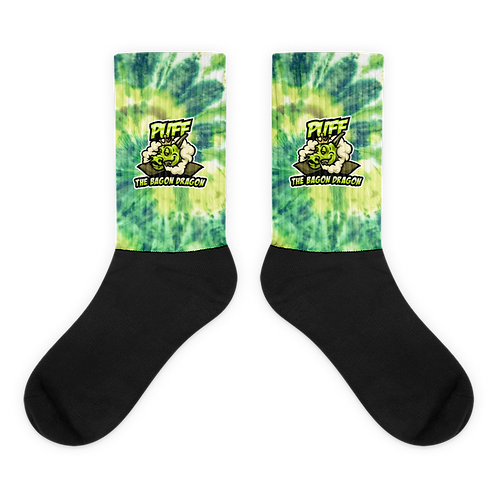 Puff The Bagon Dragon Green Tye Dye - Socks