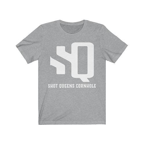 White SQ Logo - Unisex Jersey Short Sleeve Tee