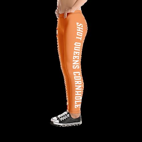 Shot Queen Cornhole Leggings- orange