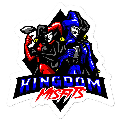 Kingdom Misfits Red and Blue - Bubble-free stickers