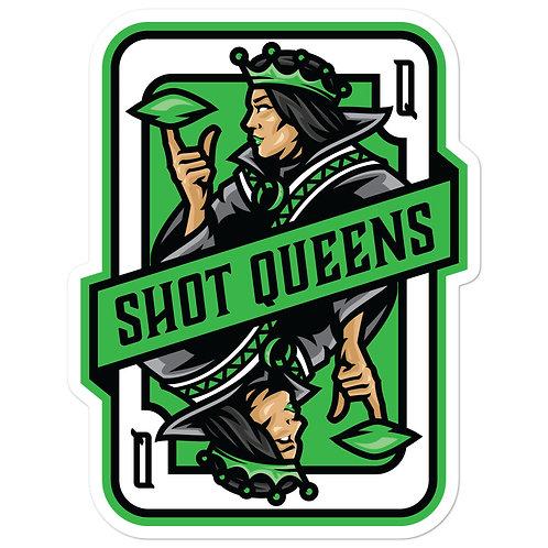 Shot Queens Cornhole Kelly Green Card - Bubble-free stickers