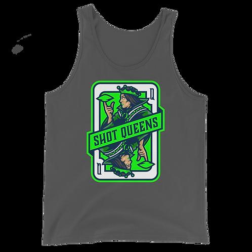 Emerald Green Shot Queens Unisex Tank Top