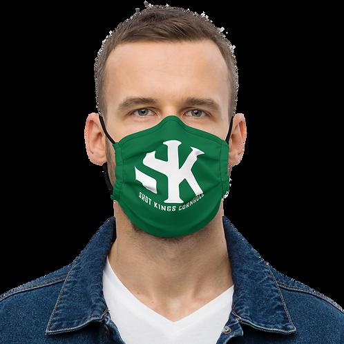 Premium Shot Kings Cornhole face mask for elite throwers.