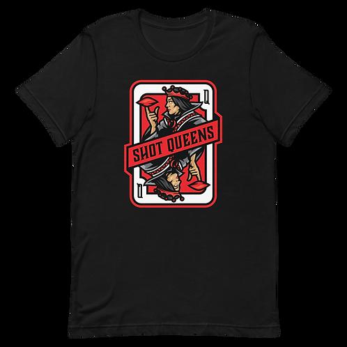 Shot Queens Cornhole 2.0 Red - Short-Sleeve Unisex T-Shirt