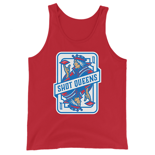 Shot Queen Bomb Pop Red and Blue Unisex Tank Top