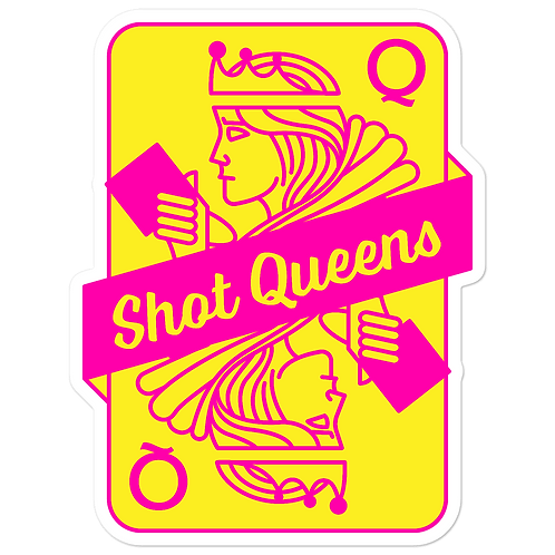SQ Pink and Yellow - Bubble-free stickers