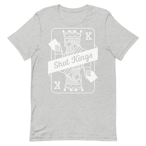 Classic Card Gray and White Short-Sleeve Unisex T-Shirt