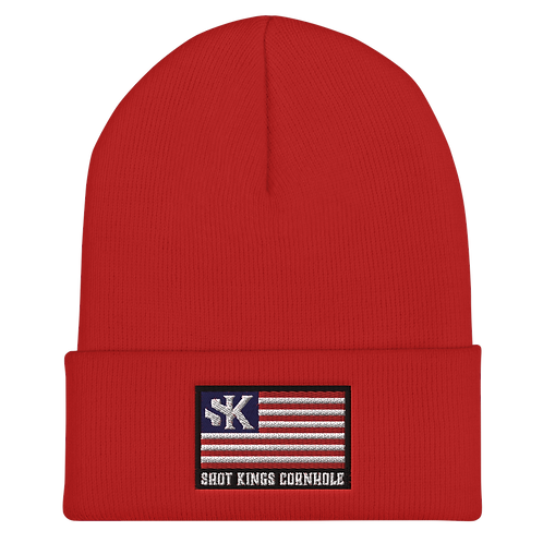 SK Nation  Red Cuffed Beanie