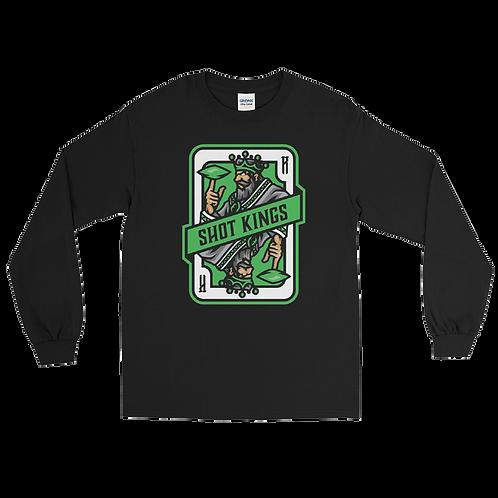 Shot Kings Cornhole 2.0 Green Card - Men's Long Sleeve Shirt