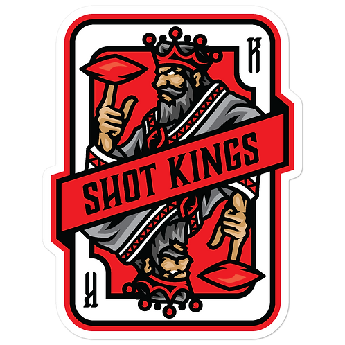 Shot Kings Cornhole 2.0 Red Card - Bubble-free stickers
