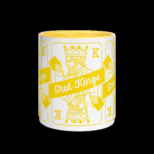 Shot King Card Yellow - Mug with Color Inside