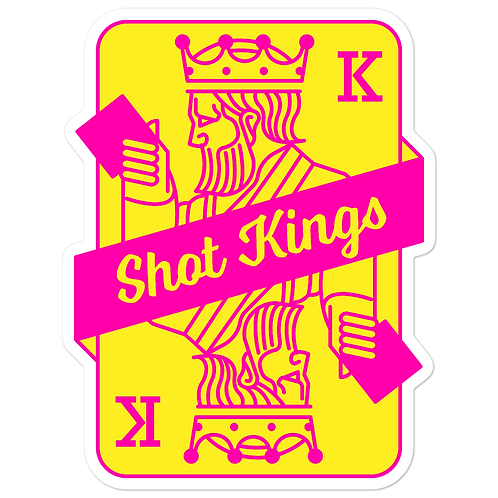 SK CARD Pink and Yellow - Bubble-free stickers
