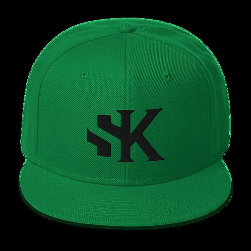 Shot Kings SK Logo - Kelly Green Snapback Hat