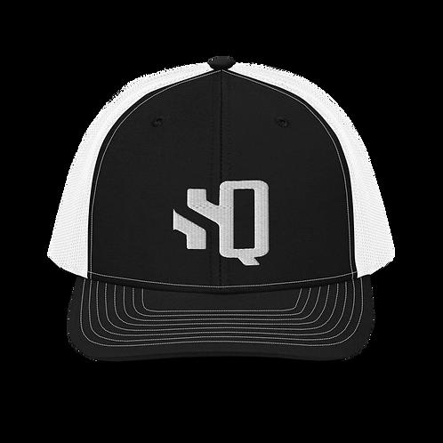 SQ White Logo Richardson - Trucker Cap