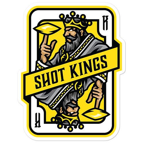 Shot Kings Cornhole Yellow Card - Bubble-free stickers