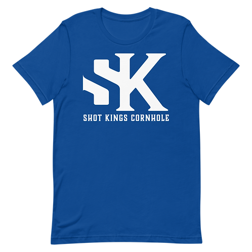 "Royal Blue and  ""SK"" Short-Sleeve Unisex T-Shirt"