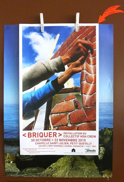Exposition improvisée autour de la brique avec Hsh. Chapelle Saint Julien à Petit-Quevilly