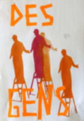 Affiches collectives, discours sur la dalle de la Grand Mare autour de Vost de Mathieu Herbelin