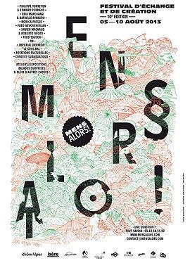 Dessin pour l'affiche du festival Mens alors ! 2013 réalisée par Julien Lelièvre