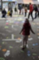Rouen Impressionnée. tournage de séquences d'animation à la craie. dessin participatif.