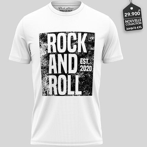 Rock&Roll White T-Shirt by BLACK HAZE