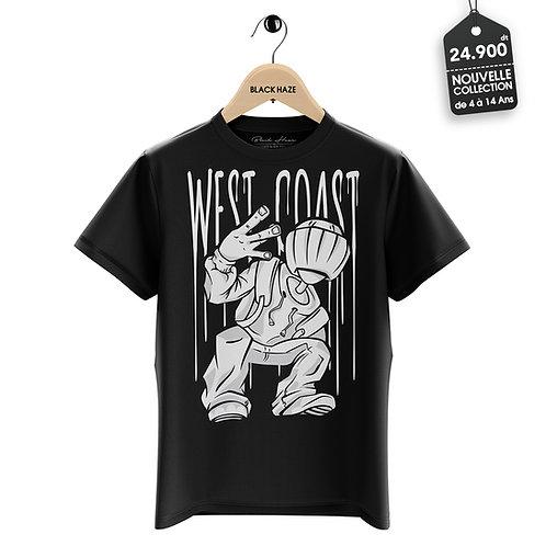 West COAST Black T-Shirt