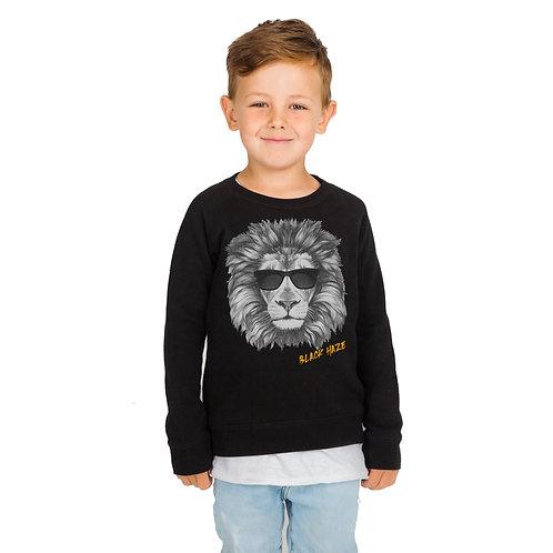 SweatShirt Lion Deep BLACK