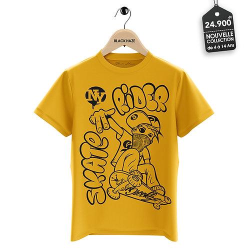 Rider SKATE NY Yellow T-Shirt