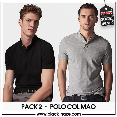 PACK 2 Polo Mao Collar by BLACK HAZE