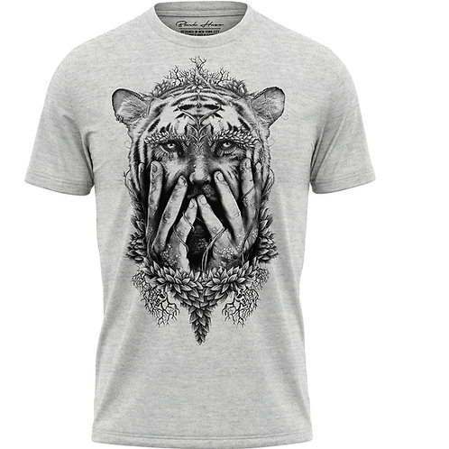 Humain Gray T-Shirt by BLACK HAZE