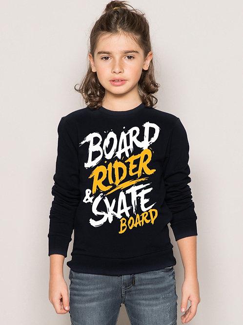 SweatShirt Board Girl Deep BLACK
