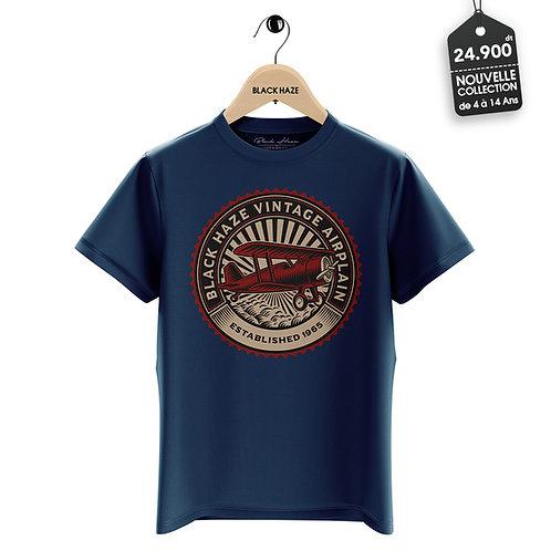 Vintage Airplane Blue T-Shirt