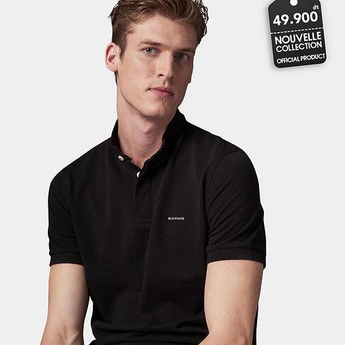 Polo Mao Collar Black by BLACK HAZE