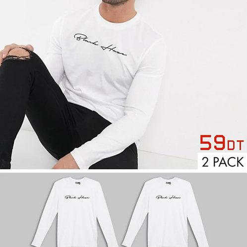 PACK 2 Basics WHITE Men by BLACK HAZE