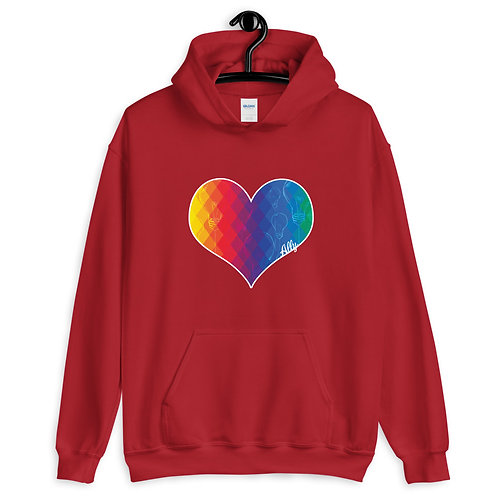 PRIDE Thinking Heart Gender Inclusive Hoodie