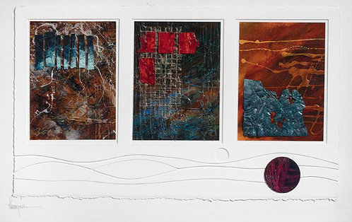 """Triptych on Cut Board"""