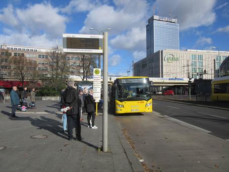 (ベルリンの観光情報)ベルリンで市バスのストライキ(2019年3月14日)