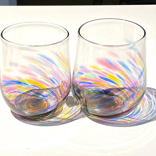 Pair - Stemless Wine Glasses