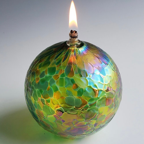 Hand-blown Glass Oil Candle