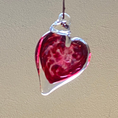 Small Art-Glass Heart Suncatcher