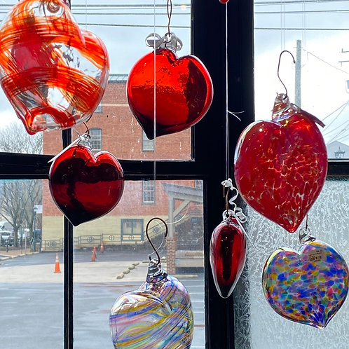 Hand-blown Glass Hearts