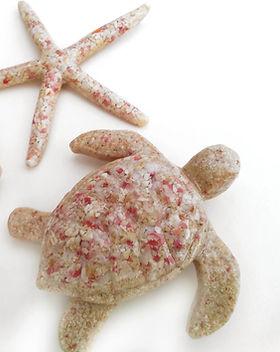 Bermuda Pink Sand Holiday Ornaments Seah