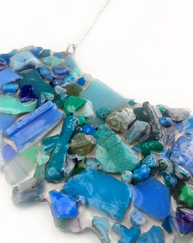 Upcycled Beach Plastic Jewelry Necklace