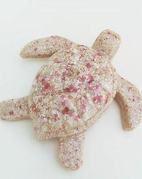 Bermuda Pink Sand Holiday Ornament Turtl