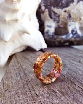 Bermuda Pink Sand Jewelry Orange and Pin