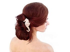 Seaside Wedding Hair Seahorse - Bermuda