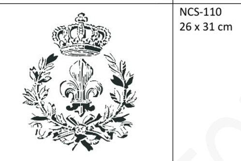 Sjablong, Fleur and Laurel. 35×35