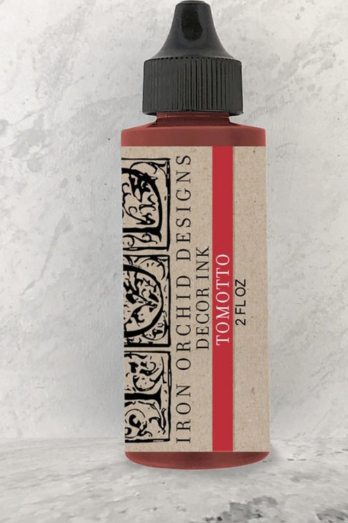 Maling rød , stamp