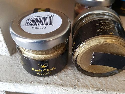Posh chalk patina, byzantine gold WB