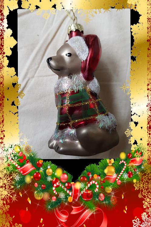 Hund , til juletreet
